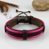 genuine leather wristbands adjustable drawstring warp bracelets unisex design I