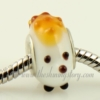 hedgehog murano glass beads for fit charms bracelets white
