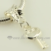 key silver plated european big hole charms fit for bracelets silver