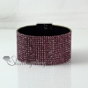 leather crystal rhinestone snap wrap slake bracelets fashion leather bracelet jewelry design B