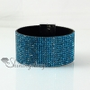 leather crystal rhinestone snap wrap slake bracelets fashion leather bracelet jewelry design C