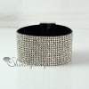 leather crystal rhinestone snap wrap slake bracelets fashion leather bracelet jewelry design D