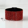 leather crystal rhinestone snap wrap slake bracelets fashion leather bracelet jewelry design E