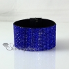 leather crystal rhinestone snap wrap slake bracelets fashion leather bracelet jewelry design F