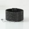 leather crystal rhinestone snap wrap slake bracelets fashion leather bracelet jewelry design G