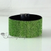 leather crystal rhinestone snap wrap slake bracelets fashion leather bracelet jewelry design H