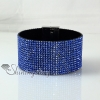 leather crystal rhinestone snap wrap slake bracelets fashion leather bracelet jewelry design I