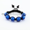 macrame foil murano glass ball bracelets jewelry armband blue