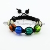 macrame foil murano glass ball bracelets jewelry armband rainbow