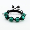 macrame foil murano glass ball bracelets jewelry armband deep green