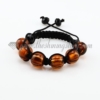 macrame foil murano glass ball bracelets jewelry armband brown