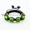 macrame foil murano glass ball bracelets jewelry armband green