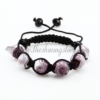 macrame lampwork murano glass beads bracelets jewelry armband purple
