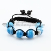 macrame lampwork murano glass beads bracelets jewelry armband light blue