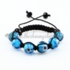 macrame lampwork murano glass with flower bracelets jewelry armband light blue