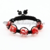 macrame lampwork murano glass with flower bracelets jewelry armband red
