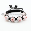 macrame lampwork murano glass with flower bracelets jewelry armband pink
