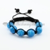 macrame lines lampwork murano glass bracelets jewelry armband light blue