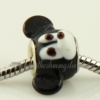 mouse animal lampwork glass beads for fit charms bracelets black