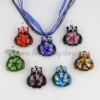 owl flower lampwork murano glass necklace pendant jewellery assorted