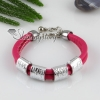 pu charm wristbands multi layer buckle bracelets unisex red