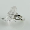 quartz rock crystal agate finger rings design B