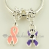 rainbow ribbon enamel dangle charms fit for bracelets assorted