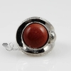 round semi precious stone natural tiger's-eye jade finger rings design B