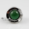 round semi precious stone natural tiger's-eye jade finger rings design C