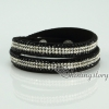 shining blingbling crystal rhinestone double layer wrap slake bracelets mix color design A