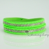 shining blingbling crystal rhinestone double layer wrap slake bracelets mix color design C