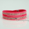 shining blingbling crystal rhinestone double layer wrap slake bracelets mix color design E