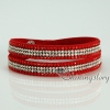 shining blingbling crystal rhinestone double layer wrap slake bracelets mix color design F