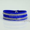 shining blingbling crystal rhinestone double layer wrap slake bracelets mix color design H