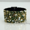 shining rhinestone magnetic buckle wrap slake bracelets mix color leather bracelet design D