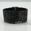 shining rhinestone magnetic buckle wrap slake bracelets mix color leather bracelet design E
