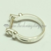 silver plated finger rings for big hole charms beads silver