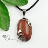 teardrop natural stone rose quartz natural semi precious stone pendant necklaces design B