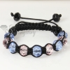 two color alternating macrame crystal beads bracelets jewelry design B