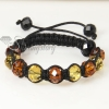 two color alternating macrame crystal beads bracelets jewelry design C