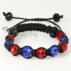 two color alternating macrame crystal beads bracelets jewelry design D
