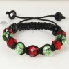 two color alternating macrame crystal beads bracelets jewelry design E